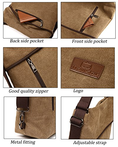 Handbag Women Vintage Women WineRed Backpack Bag Shoulder Bag Canvas Multifunctional Travistar qHAWazwpIz