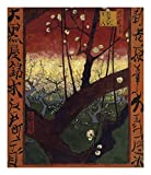 """Global Gallery Vincent Van Gogh The Flowering Plum Tree (After Hiroshige) 1887-Giclee on Paper Print-Unframed-22 Image Size, 22"""" x 18 3/4"""""""