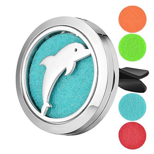 - Garden Charms Aromatherapy Car Air Freshener 'Dolphin' Design Stainless Steel Locket Best Essential Oil Diffuser For Men & Women (Dolphin)
