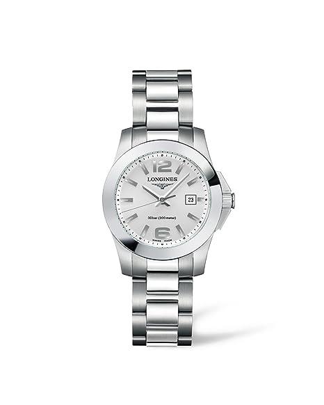 Longines – Reloj de pulsera analógico para mujer cuarzo acero inoxidable l32774766