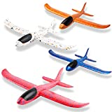 WATINC 4Pcs 13.5inch Airplanes, Manual Throwing Outdoor Sports Toys for Challenging, Children Games Toy Gliders Fun, Glider Plane for Kids, Birthday Gift Flying Gliders, Foam Airplane