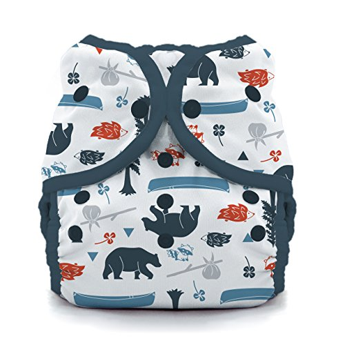 Thirsties Duo Wrap Cloth Diaper Cover, Snap Closure, Adventure Trail Size Two (18-40 lbs) ()