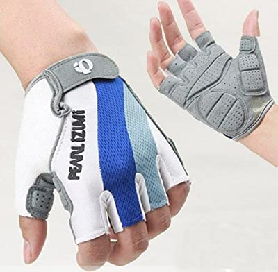 hkbayi Sport Bicycle MTB Racing Half Finger Cycling Motorcycle Gloves for Women Men M L XL winter Fingerless Leather