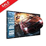 Outdoor 120 Inch Projector Screen Indoor Home Theater/Cinema - 16:9 Portable Projector Screen - Suitable for HDTV/Sports/Movies/Presentations Support Double Support Double Sided Projection