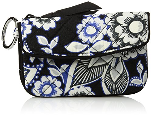 Vera Bradley Women's Iconic Jen Zip Id, Snow Lotus (Lotus Coin)