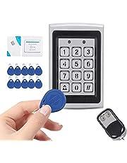 Control de Acceso, Kit de Sistema de Seguridad para Puertas con Cerradura Magnética Eléctrica, Contraseña de Tarjeta de Control de Acceso RFID, para Apartamentos, Casas, Hotel