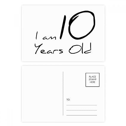 DIYthinker Tengo 10 años Gracias tarjeta de vejez joven ...