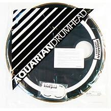 Aquarian Drumheads SKP24BK Super-Kick 1 Prepack 24-inch Bass Drum Head, gloss black