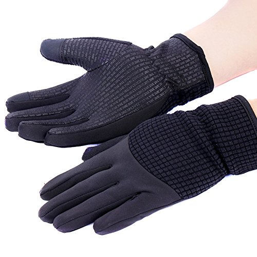 KaYaka Touch Screen Gloves Women, Cold Weather Windproof Thermal Glove Smartphone Texting - Non-Slip Silicone Gel Hand Warmers Womens' Cycling Running