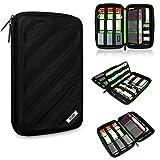BUBM Portable EVA Hard Drive Case Travel Organizer for Electronics (1 Black Large)