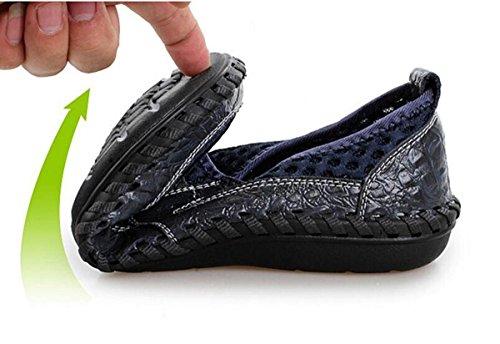 Beauqueen Zapatillas de deporte de malla Suela suave transpirable hueco antideslizante Casual Jogging zapatos de los deportes UE tamaño 38-44 Blue