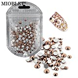 nails gems - MIOBLET 300 Piece Mix Size SS3-SS30 Rose Gold Crystal Gem Nail Rhinestones Manicure Nail Gems Flatback Non Hotfix Glitter 3D Nail Art Gems Stones DIY Nails Decorations Rhinestone Accessories