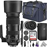 Sigma 60-600mm f/4.5-6.3 DG OS HSM Sports Lens for Canon EF w/Advanced Photo and Travel Bundle