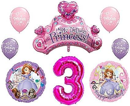 Amazon.com: Disney Sofía la Primera 3ª Feliz cumpleaños ...