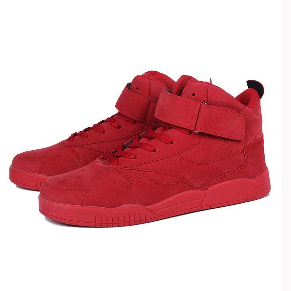 SUNNY Hip-Hop High-Top-Schuhe Baumwollschuhe Basketball Übung Laufschuhe Winter Schwarz Grau Braun Rot (Farbe   rot, größe   EU39 UK6 CN39)