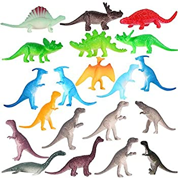 funslane 72 pcs mini assorted dinosaurs pvc plastic dinosaurs kids educational toys set novelty toys