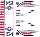 Cheap KA Mixer Cover Kit Flying Tiger Shark Plane Decal Sticker Red, White, Navy Blue, and Black, Designed to Fit All Kitchenaid Stand Mixers, Including Pro 600, and Artisan. Mixer Not Included.