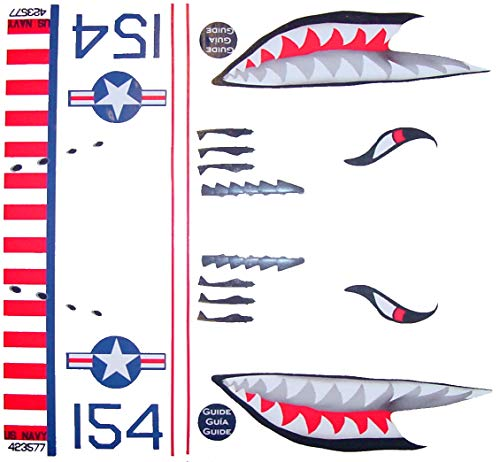 KA Mixer Cover Kit Flying Tiger Shark Plane Decal Sticker Red, White, Navy Blue, and Black, Designed to Fit All Kitchenaid Stand Mixers, Including Pro 600, and Artisan. Mixer Not Included. ()