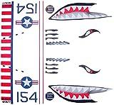 KA Mixer Cover Kit Flying Tiger Shark Plane Decal