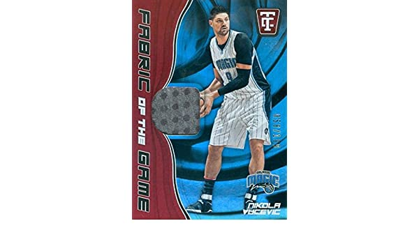 Nikola Vucevic player worn jersey patch basketball card (Orlando Magic) 2017 Panini Fabric of the Game Totally Certified #FGNVV at Amazons Sports ...