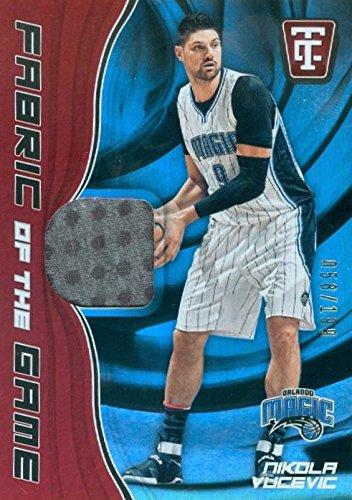 Nikola Vucevic player worn jersey patch basketball card (Orlando Magic) 2017 Panini Fabric of