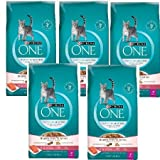 Purina ONE Tender Selects Blend with Real Salmon Cat Food 7 lb. Bag (5 Bag)