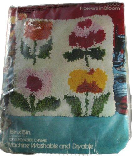 Red Heart 6603 Flowers in Bloom Latch Hook Canvas Pattern