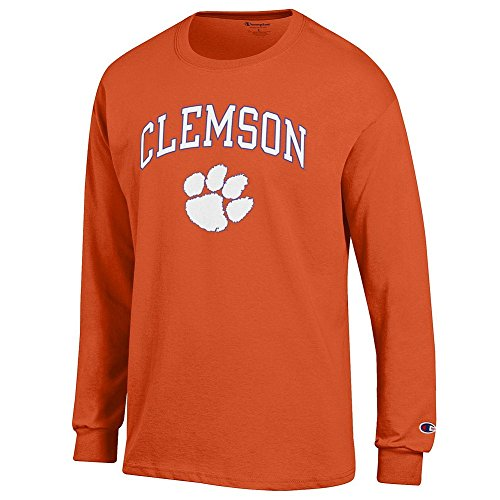 Elite Fan Shop Clemson Tigers Long Sleeve Tshirt Varsity Orange - M