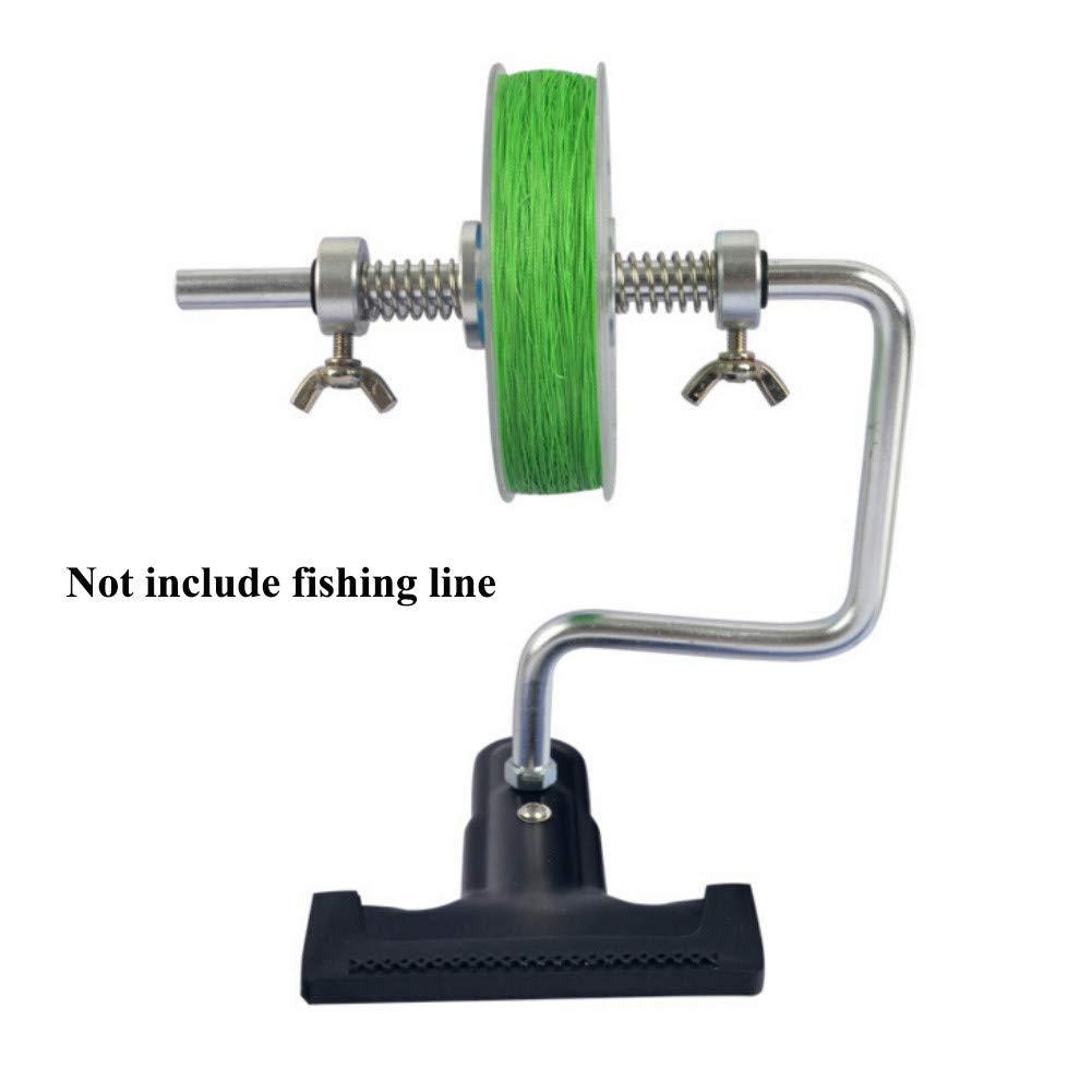 SimpleMfD L/ínea de Pesca Bobinadora Carrete de l/ínea Carrete con Abrazadera Protable Sistema de bobinado de bobinado Herramientas de Pesca de Carpa Mar Accesorios para Pesca
