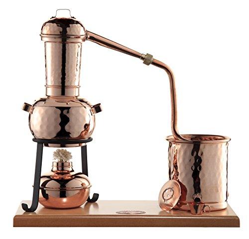 CopperGarden® Destille Arabia 0,5 Liter mit Zubehör - legal Schnapsbrennen und ätherische Öle herstellen