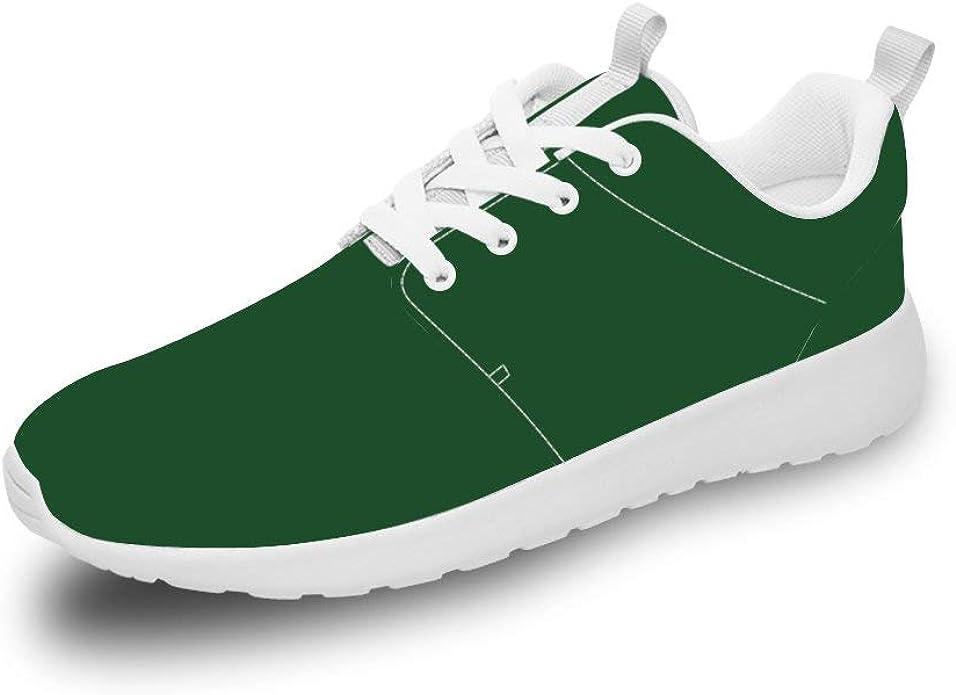 Mesllings Unisex Zapatillas de Running Deportivas Deporte Ligero Verde Oscuro Moda Zapatos para Exterior: Amazon.es: Zapatos y complementos