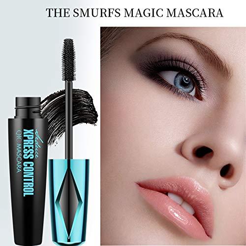 4D Silk Fiber Lash Mascara Waterproof,Natural Thick Thickening and Lengthening Long Lasting 4D Fiber Eyelash Mascara,Dramatic Extension, Smudge-proof 4D Mascara