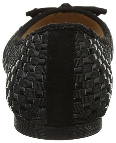 Buffalo Shoes C035c-4 S0003a a 0023j Pu, Bailarinas para Mujer Negro (BLACK 01)