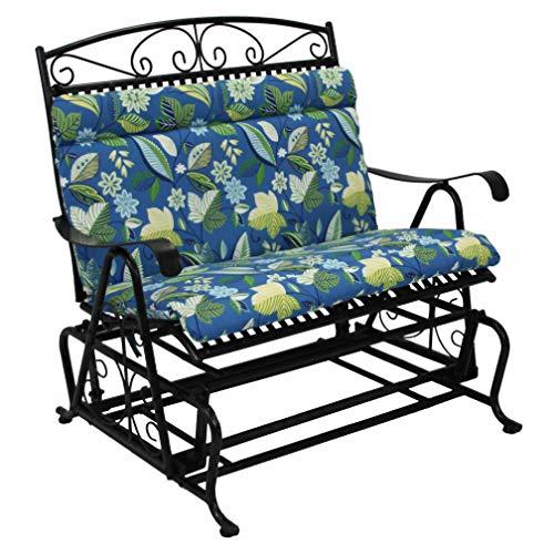 Outdoor Loveseat Glider Cushion Color: Skyworks Caribbean Cushion Only ()