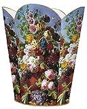 WB561-Spring Bouquet on Blue Background Wastepaper Basket