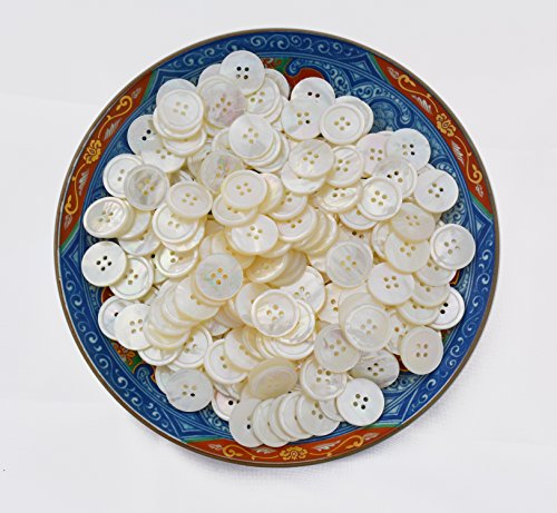 Gorgeous White MOP SUIT BUTTONS – 14 pc replacement set with 4 front and 10 cuff pcs – great quality Mother of Pearl