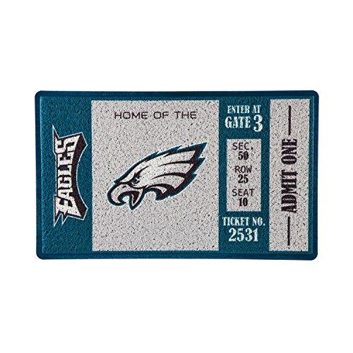 Team Sports America Philadelphia Eagles Recyclable PVC Vinyl Indoor/Outdoor Weather-Resistant Team Logo Door Turf -