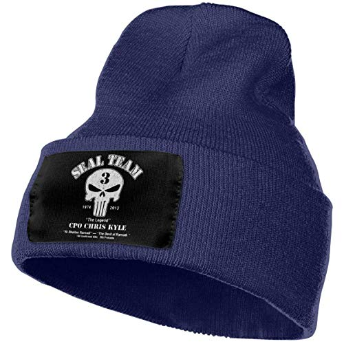 official photos 76522 999d8 WSND American Sniper Chris Kyle Punisher The Legend Beanie Knitted Caps Ski  Hat Navy
