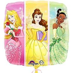 Anagram - Globo cuadrado diseño de princesas