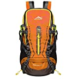 The Seventh 45L Hiking Daypack With Waterproof Backpack Outdoor Camping Cycling Travel Backpack Orange