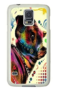dog 04 PC Case Cover for Samsung S5 and Samsung Galaxy S5 White
