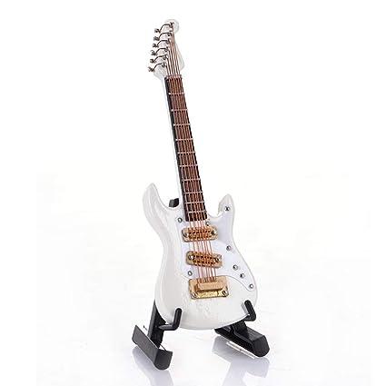 Beatie 10 cm Mini Modelo de Guitarra eléctrica Decorada con Soporte + Caja
