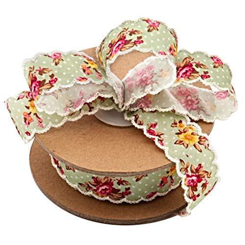 (Vintage Floral Shabby Chic Ribbon - 1