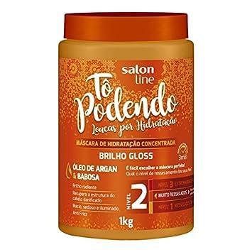 Linha Tratamento (To Podendo) Salon Line - Mascara De Hidratacao Brilho Gloss Nivel 02