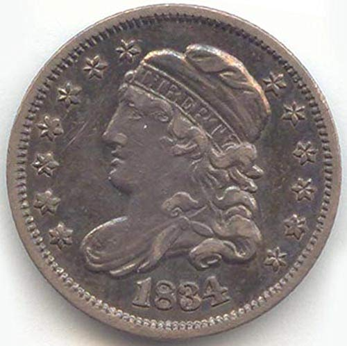 - 1834 Capped Bust Half Dime Extra Fine Details