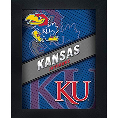 Kansas Jayhawks 3D Poster Wall Art Decor Framed Print | 14.5x18.5 | KU Lenticular Posters & Pictures | Gifts for Guys & Girls College Dorm Room | NCAA Sports Team Fan Big Jay Logo & Mascot Picture