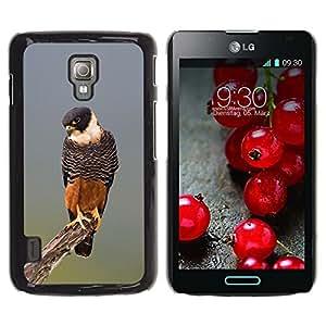 Cubierta protectora del caso de Shell Plástico || LG Optimus L7 II P710 / L7X P714 || Nature Hunting Fauna Bird @XPTECH