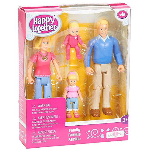You /& Me Happy Together Family Action Figure Set Dad Daughter and Baby Mom