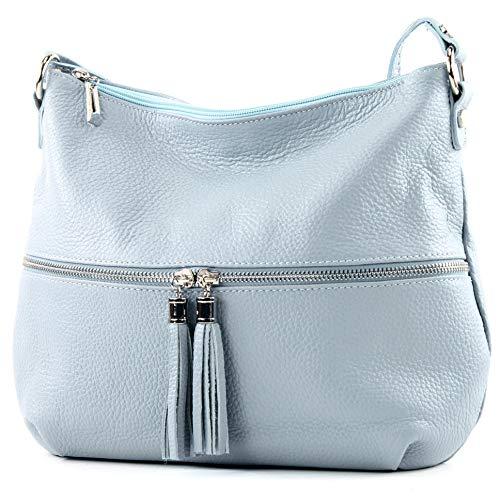 Damentasche Ledertasche modamoda Eisblau Schultertasche ngetasche Leder Umh Tasche T159 ital de tqwwg4
