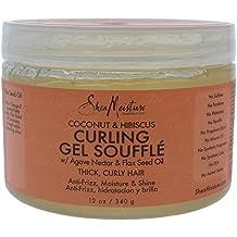 SheaMoisture Coconut & Hibiscus Curling Gel Souffle, 12 Ounce